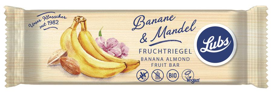 Ekologiškas batonėlis su bananais ir migdolais LUBS